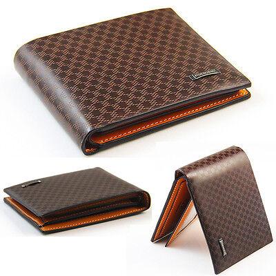 New Stylish Men's PU Leather Wallet Pocket Card Clutch Bifold Purse So8
