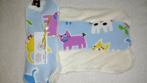 Boy Prints!! Bamboo Fleece Topped Nappy Boosters pk5 bamboo absorbent liners