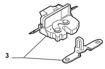 500 Arranque cierre atrapar mecanismo con Rc 1 Fiat Genuino oe