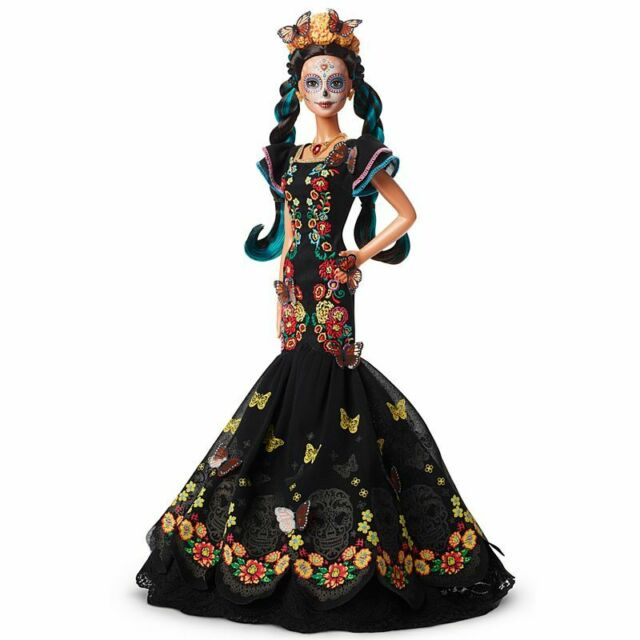💀 Barbie Day of The Dead Dia De Los Muertos Doll In Hand & Ready to Ship New 💀