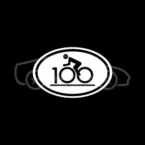 CENTURY-RIDE-BIKE-RACE-100-Sticker-Decal-Oval-Bicycle-Hundred-Miles-Club-Fitness