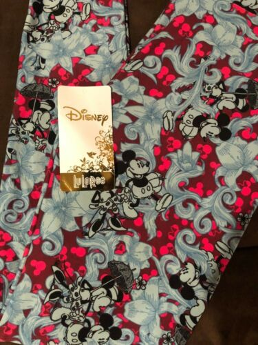 Lularoe Disney OS Minnie Mickey Umbrella Teal Leggings New Unicorn Rare Fast Shi