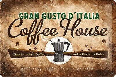COFFEE HOUSE * CAFE * KÜCHE * KAFFEE * BLECHSCHILD * NOSTALGIE * 20X30 * NEU!
