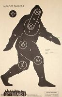 Bigfoot, Sasquatch Silhouette Shooting Targets 12pc!! NRA target paper!!!