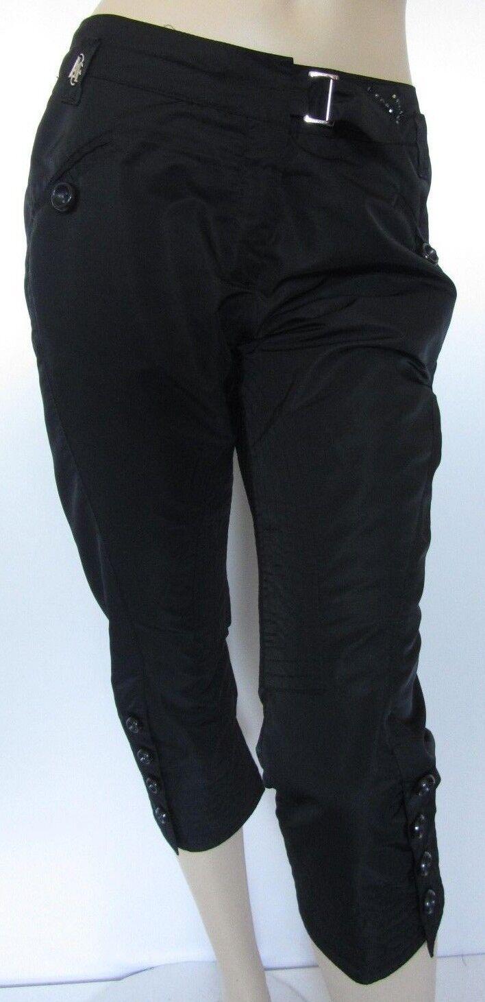 Hose Gr. 38 Caprihose schwarz glänzend Glitzersteine Damen von Airfield Airfield Airfield   064 4276a2