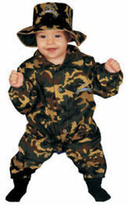 Image is loading Baby-Military-Officer-Army-Baby-Costume-Dress-Up-  sc 1 st  eBay & Baby Military Officer Army Baby Costume Dress Up America 296 | eBay