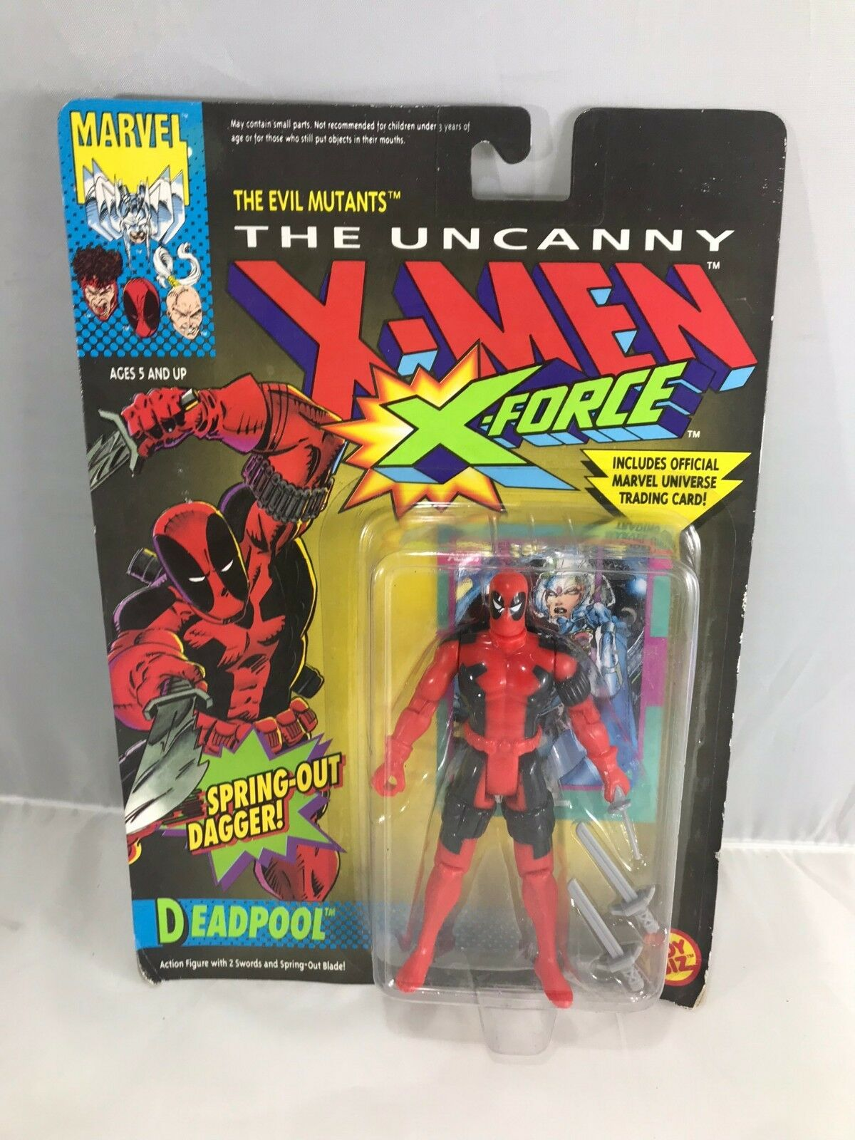 1992 DEADPOOL X Force MOC X Men 1st Figure  TOYBIZ MARVEL Comics Rob Liefeld