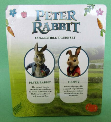 Peter Rabbit Collectible Poseable Figure Set Peter /& Flopsy NIB