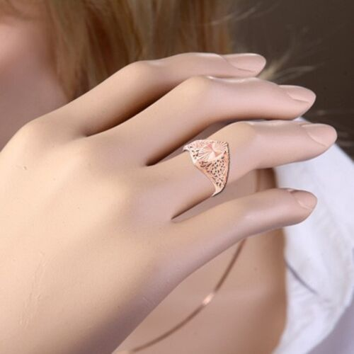 Vintage style Ring solid rose gold 585 //14ct filigree marquise NWT Beautiful