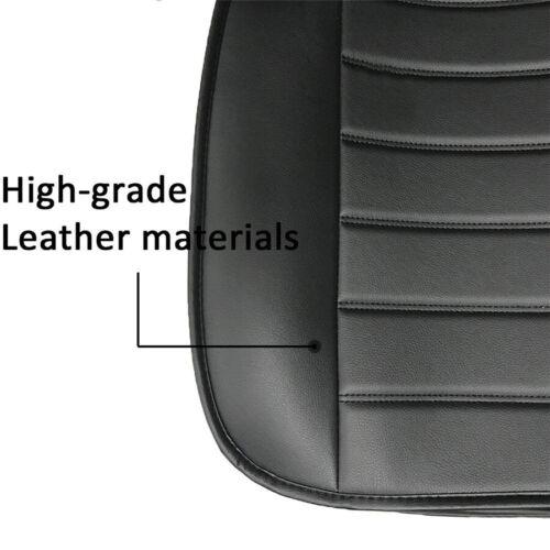 1Pcs Black Classic PU Leather Car Seat Cover Driver Front Cushion w// Storage Bag
