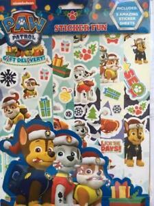 Paw-Patrol-Christmas-Sticker-Fun-5-Sheets-Reusable-Xmas-Festive-Party-Bag-Filler
