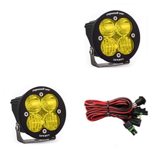Baja Designs Squadron-R Sport Pair UTV LED Light Driving Combo Amber Pattern