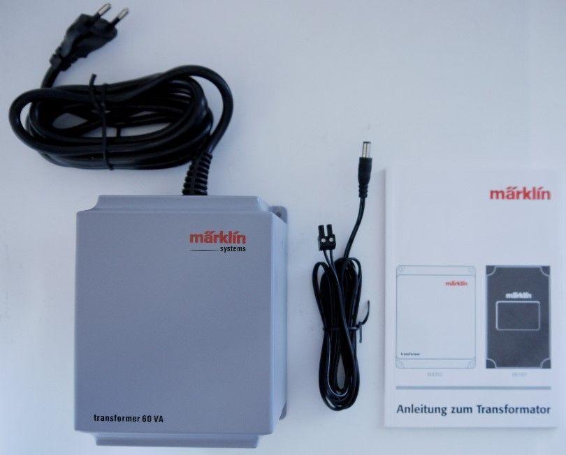 Marklin  60052 Transformer 60 VA, 230 Volt with Cables and Instructions  trouvez votre favori ici