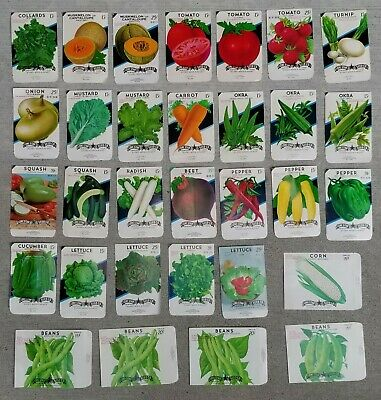 Details about  /VEGETABLES SEED PACKETS 1980/'s 1990/'s UNOPENED SEALED PACKS SOLD SEPARATELY
