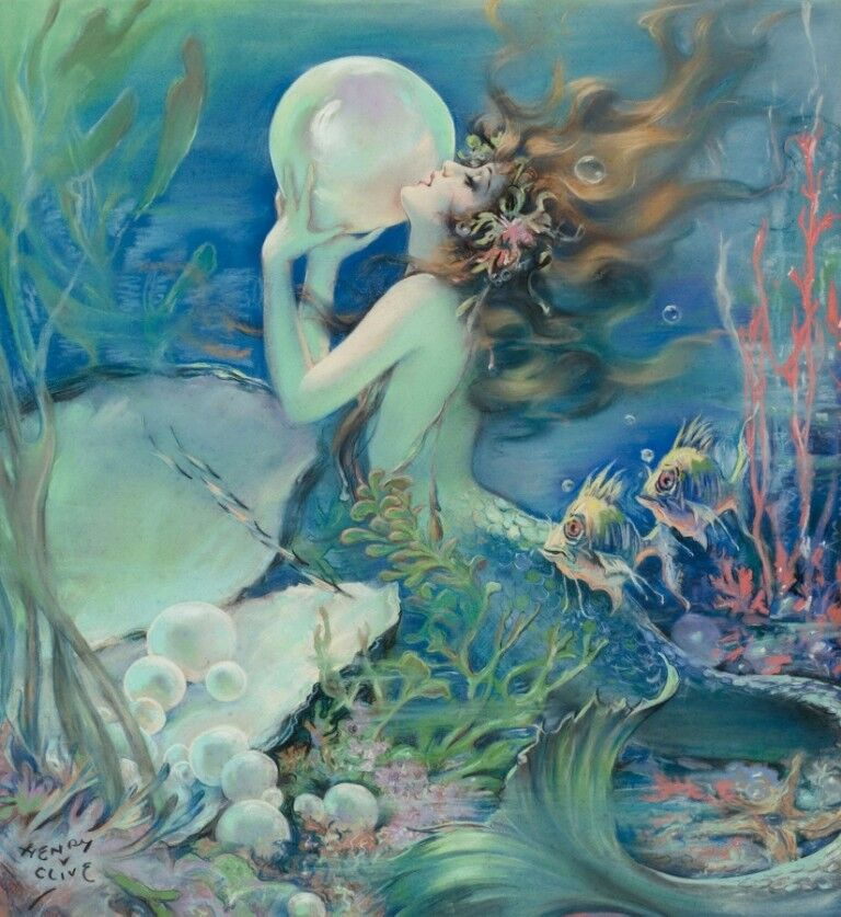 The Mermaid   Henry Clive   Circa 1939   Art Print Suitable for Framing