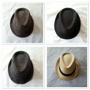 Unisex-Gangster-Hat-Detective-Fedora-Trilby-Panama-Beach-Sunhat-Jazz-Cap-Party