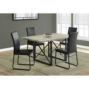 Details About Monarch Dining Table In Dark Taupe And Black