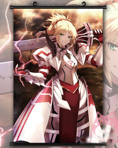 Fate Apocrypha Saber Mordred  Anime Wall Scroll Poster Home Decor Gift 60*90cm