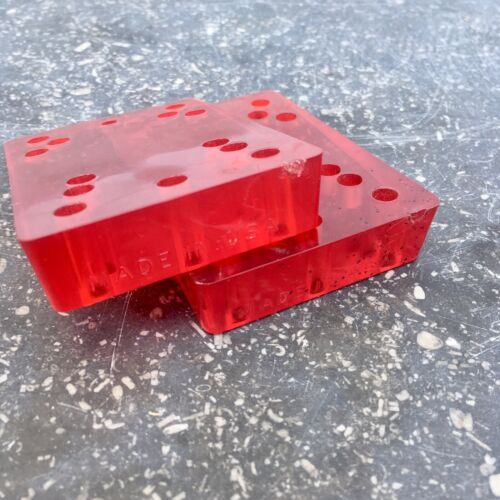 Vintage 70s skateboard Riser Pads Ruby Red Angled NOS RAD G/&S Kryptonics Alva