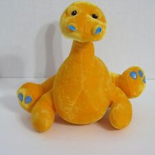 BJ Toy Co Orange Dinosaur Nessie Plush Stuffed Animal 9 inches