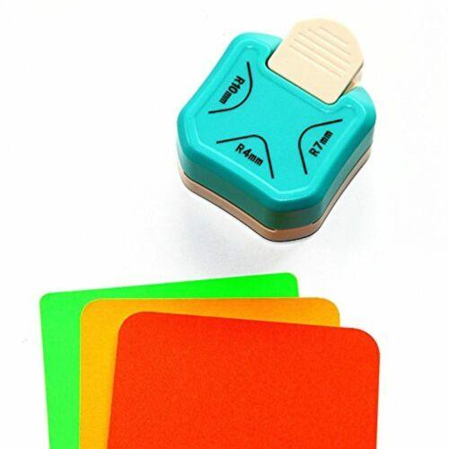 4mm, 7mm, 10mm Perforadora de papel Cady 3 en 1 para redondear esquinas
