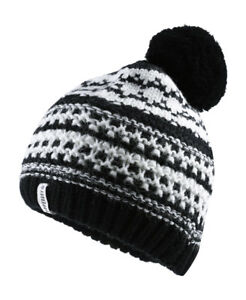 a68ff88bd24 Image is loading New-Womens-Superdry-Nordic-Pattern-Bobble-Hat-Black