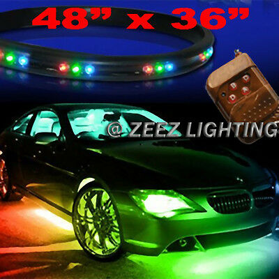 LED Undercar Underbody Underglow Kit Neon Strip Under Car Glow Light Tube C01