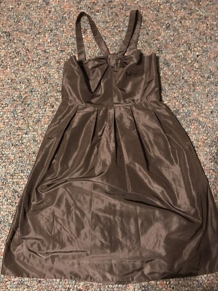 J Crew Size 4 Silk Chocolate Brown After 5 Dress