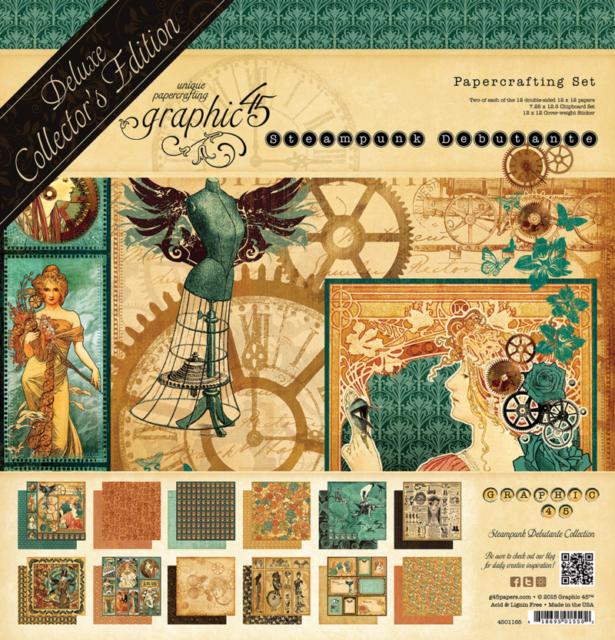 12 x 12 papiers prenez garde Graphique 45 2 Feuilles Steampunk Sorts Collection