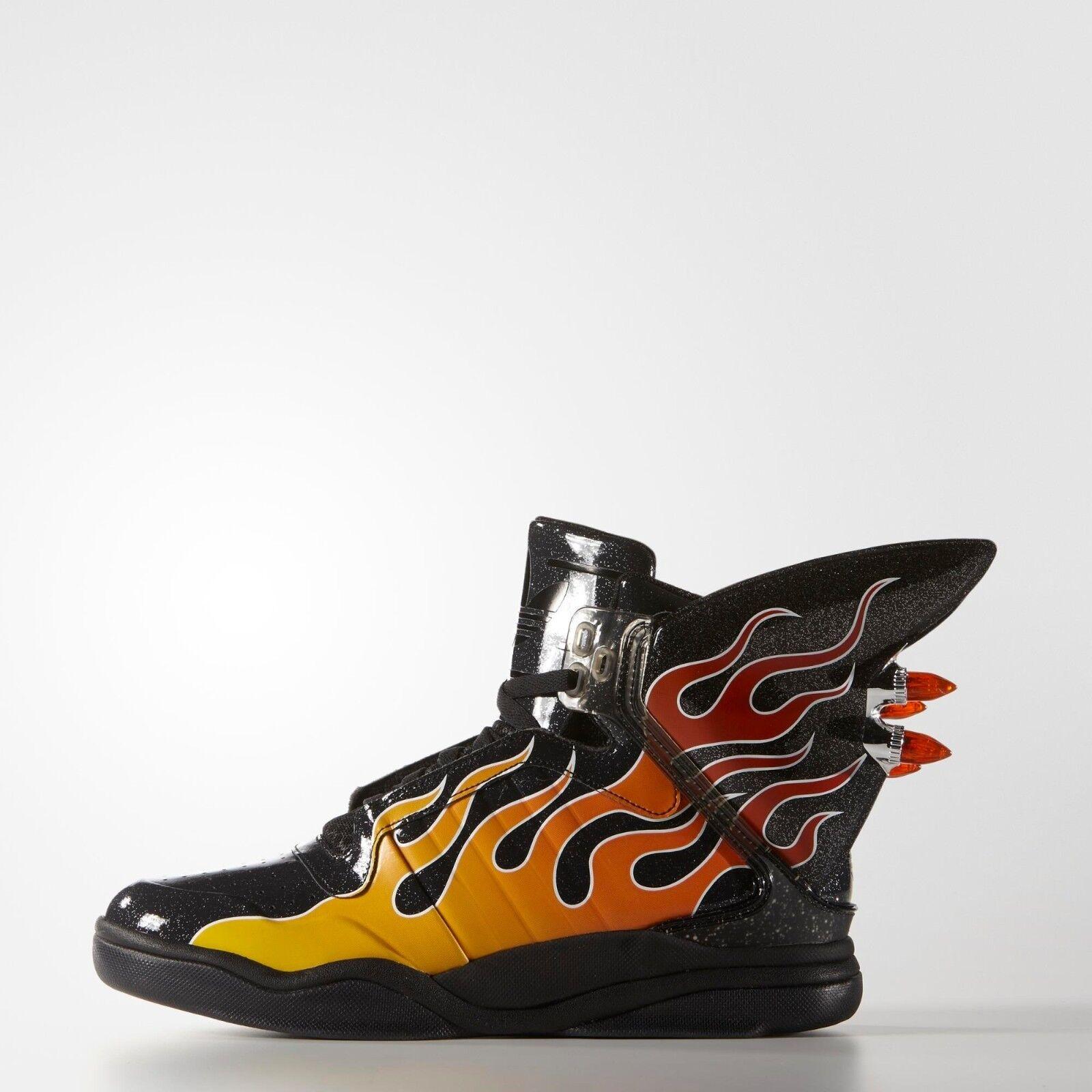 Adidas Originals Jeremy Scott Negro Alas b26270 Shark Flame Zapatos  b26270 Alas Nuevo 12172b