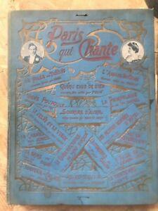 45-n-Paris-qui-chante-annee-1906-reliure-Partitions-musique