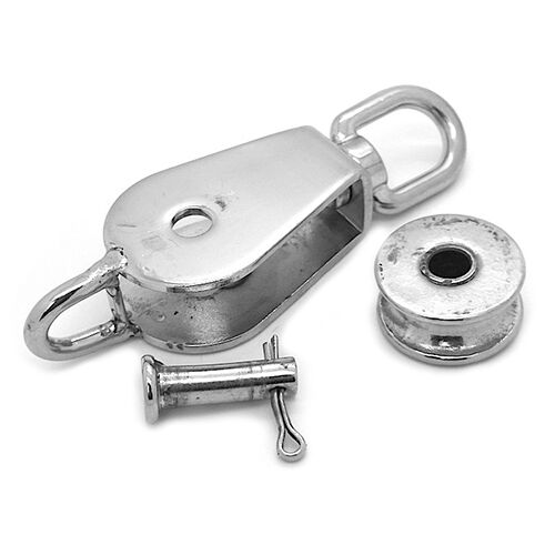 32MM SWIVEL EYE STAINLESS STEEL 316  PULLEY BLOCK WITH REMOVABLE PIN /& FIXED EYE