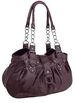 Frauen Faux Leder Doppelgurte Schultertasche Damen Handtaschen