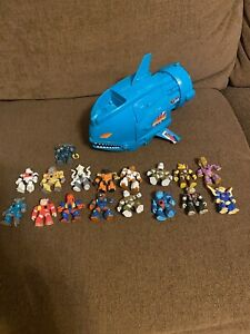 battle beasts lot with shocking shark play set