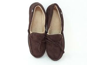 7f614dd4cab New! Men s Isotoner Moccasin Style House Slippers Dark Brown 28Y