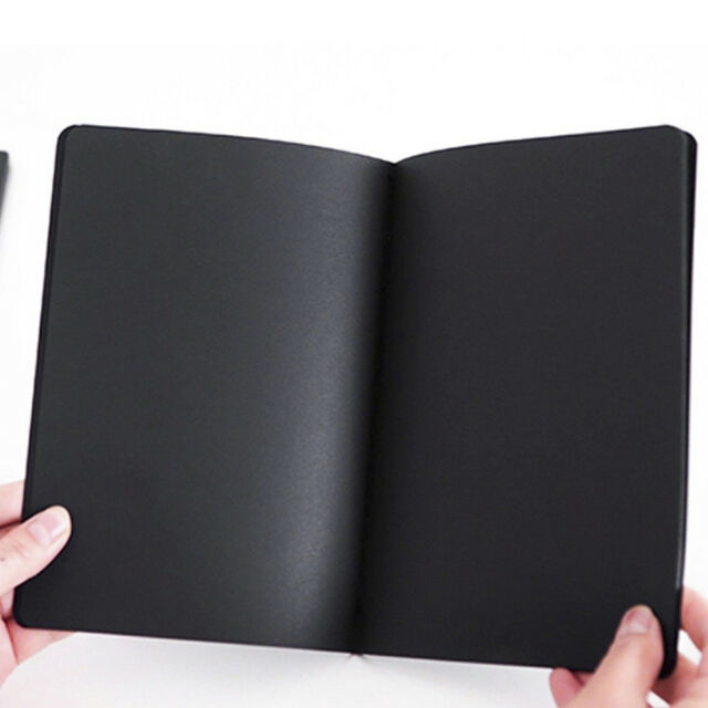 56K Black Paper Sketch Book Diary for Painting Drawing Graffiti with Soft Cover