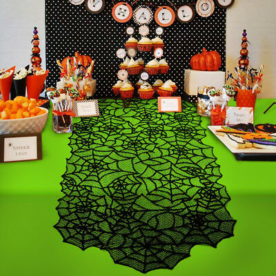 Lace Table Cover Fireplace Scarf Tablecloth Curtain Halloween Decoration Props