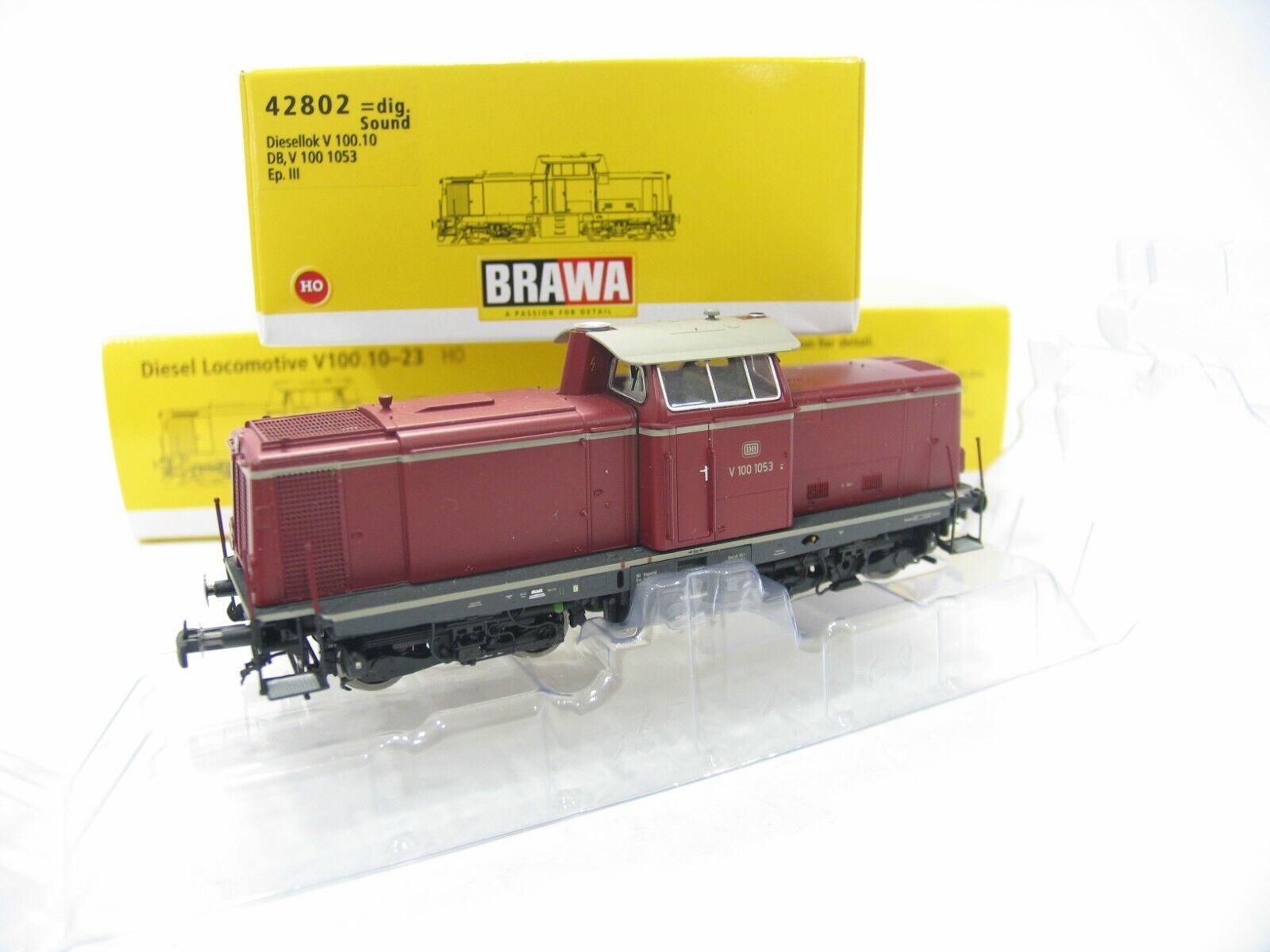 """Brawa 42869 Diesellokomotive BR V100.20 der DB /""""NEU/"""" mit OVP AC digital"""