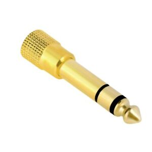"6.3mm 1/4"" Male plug to 3.5mm 1/8"" Female Jack Stereo Headphone Audio Adapter"