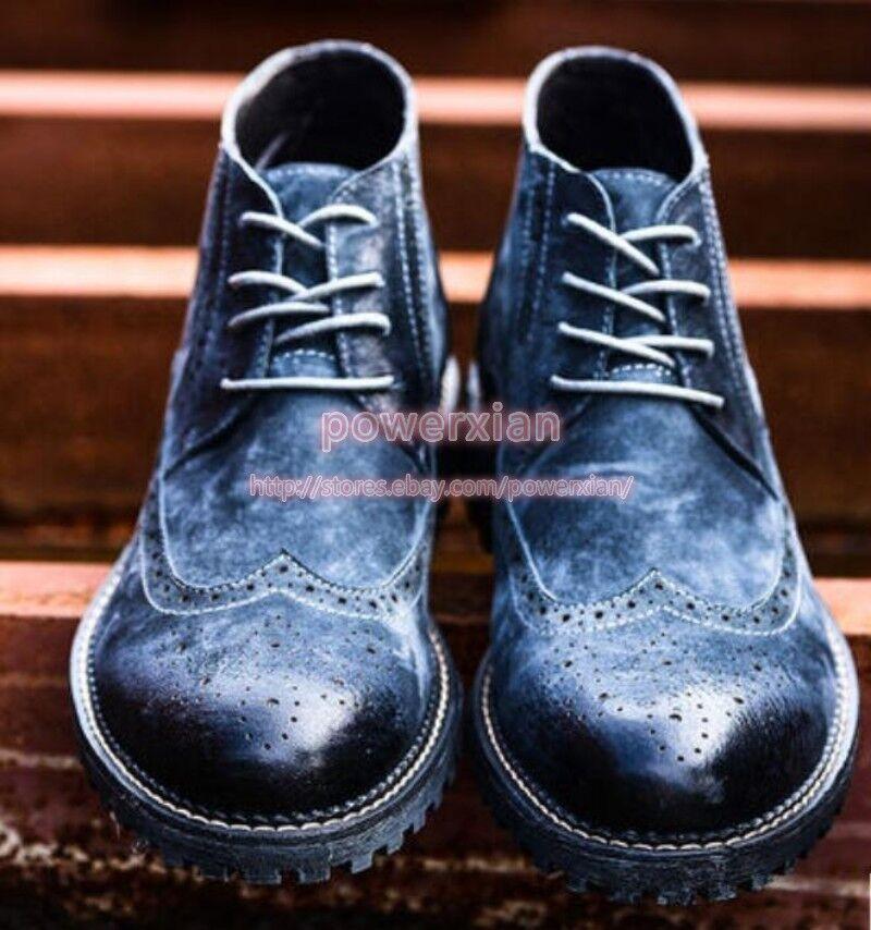 les hommes de dentelle bout d'aile dentelle de chunky cow - boy nouveau plat chaud rétro punk entreprise chaussures 38 à 44 178ccd