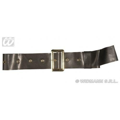Leather Look Black Belt For Santa Father Christmas or Pirate Fancy Dress Costume