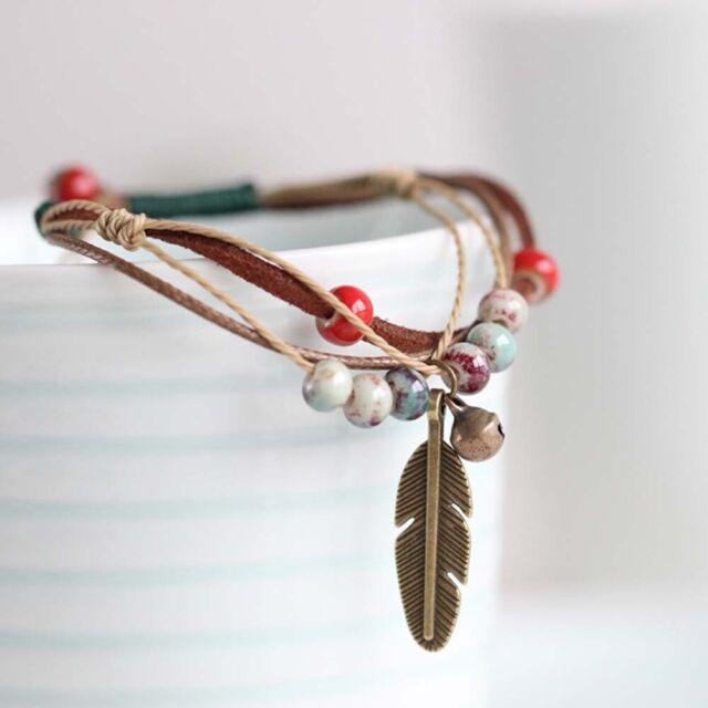 Adjustable 1 PC Ceramic Bronze Accessories Jewelry Bracelets Rope Bracelets