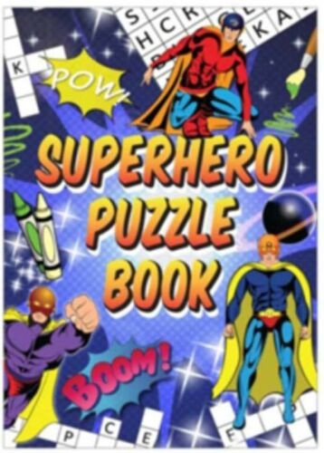 10 x SUPERHERO Puzzle Activity Books  Pinata Toy Loot Party Bag Fillers Kids