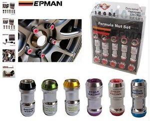 Dadi-ruota-EPMAN-Racing-Tuning-6-colori-Alluminio-T6-Tuning-drift-45mm-antifurto