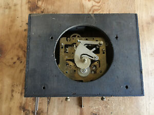Used Manual Wall Clock Machine Maquina Manual De Reloj De Pared Soneria Ebay