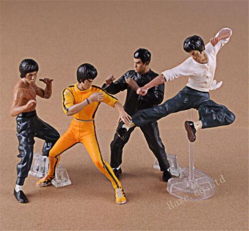 Details about  /4pcs//set Bruce Lee Kung Fu Hero Collection PVC Figure Model 10cm