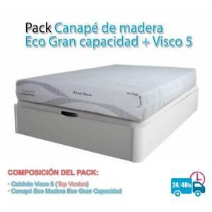 PACK-OFERTA-CANAPE-ECO-GRAN-CAPACIDAD-COLCHoN-VISCO-5-GAMA-ALTA