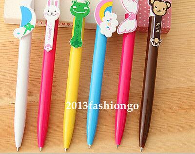 6PCS/Lot Different Design Cute Cartoon Novelty Ball Point Pen-Blue Color,0.5mm