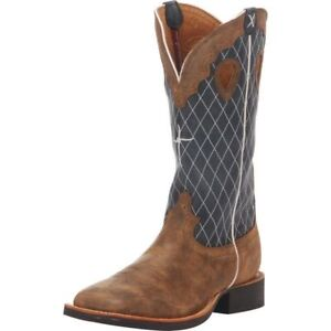fbdeea9b39f Details about MENS TWISTED X RUFF STOCK SQUARE TOE WESTERN BOOTS MRS0027 NIB