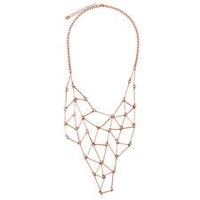 BERRICLE Rose Gold-Tone Fashion Bib Statement Necklace